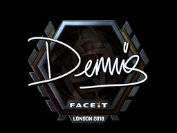 Наклейка   dennis (металлическая)   Лондон 2018