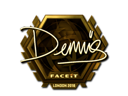 Наклейка   dennis (золотая)   Лондон 2018