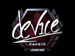 Наклейка | device (металлическая) | Лондон 2018