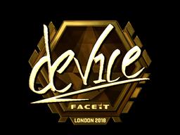 Наклейка | device (золотая) | Лондон 2018