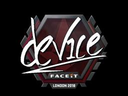 Наклейка | device | Лондон 2018