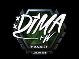 Наклейка   Dima (металлическая)   Лондон 2018