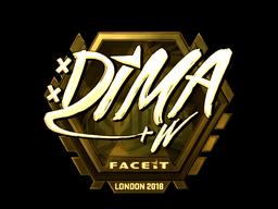 Наклейка   Dima (золотая)   Лондон 2018