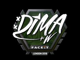 Наклейка   Dima   Лондон 2018