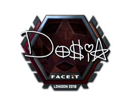 Наклейка | Dosia (металлическая) | Лондон 2018