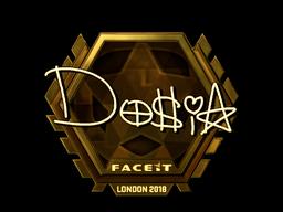 Наклейка | Dosia (золотая) | Лондон 2018