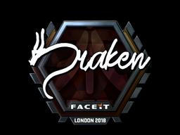 Sticker   draken (Foil)   London 2018