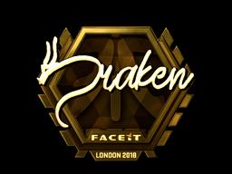 Sticker   draken (Gold)   London 2018