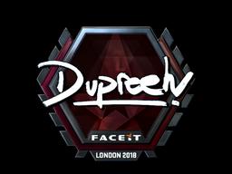 Наклейка | dupreeh (металлическая) | Лондон 2018