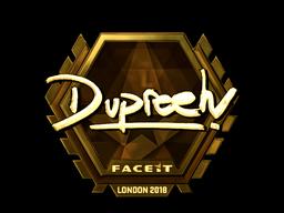 Наклейка | dupreeh (золотая) | Лондон 2018