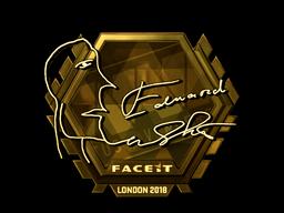 Sticker   Edward (Gold)   London 2018
