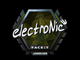 Sticker   electronic (Foil)   London 2018
