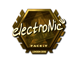 Sticker   electronic (Gold)   London 2018
