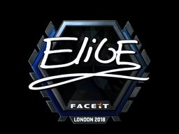 Наклейка | EliGE (металлическая) | Лондон 2018