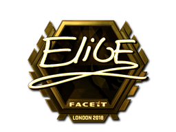 Наклейка | EliGE (золотая) | Лондон 2018