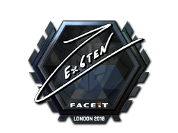 Sticker   Ex6TenZ (Foil)   London 2018