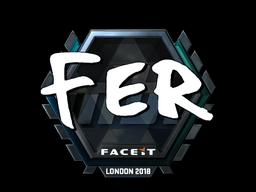 Sticker   fer (Foil)   London 2018