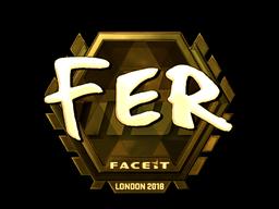 Sticker   fer (Gold)   London 2018