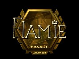 Sticker   flamie (Gold)   London 2018