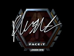 Sticker   flusha (Foil)   London 2018