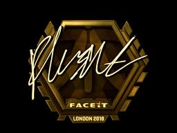 Sticker   flusha (Gold)   London 2018