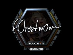 Наклейка   f0rest (металлическая)   Лондон 2018