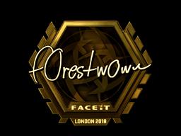 Наклейка   f0rest (золотая)   Лондон 2018