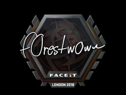 Наклейка   f0rest   Лондон 2018