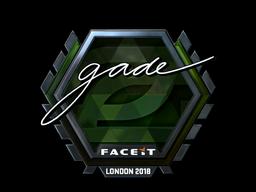 Наклейка   gade (металлическая)   Лондон 2018