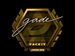 Наклейка   gade (золотая)   Лондон 2018