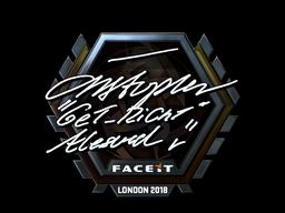 Наклейка   GeT_RiGhT (металлическая)   Лондон 2018