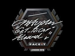 Наклейка   GeT_RiGhT   Лондон 2018