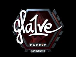 Наклейка | gla1ve (металлическая) | Лондон 2018