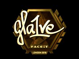Наклейка | gla1ve (золотая) | Лондон 2018