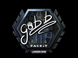Наклейка | gob b (металлическая) | Лондон 2018
