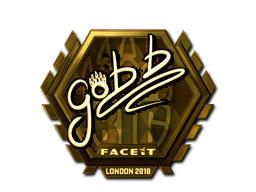 Наклейка | gob b (золотая) | Лондон 2018