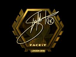 Наклейка   Hiko (золотая)   Лондон 2018