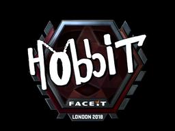 Наклейка | Hobbit (металлическая) | Лондон 2018