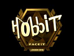 Наклейка | Hobbit (золотая) | Лондон 2018