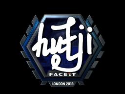 Наклейка | hutji (металлическая) | Лондон 2018