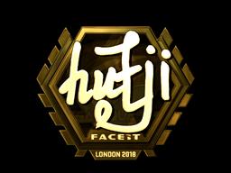 Наклейка | hutji (золотая) | Лондон 2018