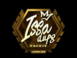 Наклейка   ISSAA (золотая)   Лондон 2018