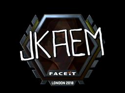 Наклейка   jkaem (металлическая)   Лондон 2018