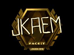 Наклейка   jkaem (золотая)   Лондон 2018