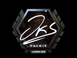 Наклейка   jks (металлическая)   Лондон 2018