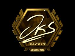 Наклейка   jks (золотая)   Лондон 2018