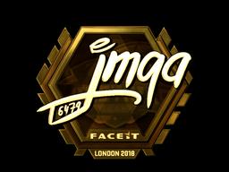 Sticker   jmqa (Gold)   London 2018