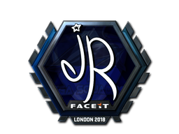 Наклейка | jR (металлическая) | Лондон 2018