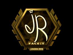 Наклейка | jR (золотая) | Лондон 2018