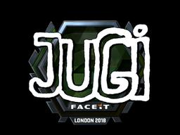 Наклейка   JUGi (металлическая)   Лондон 2018